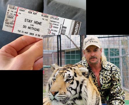 Joe Exotic and a tiger